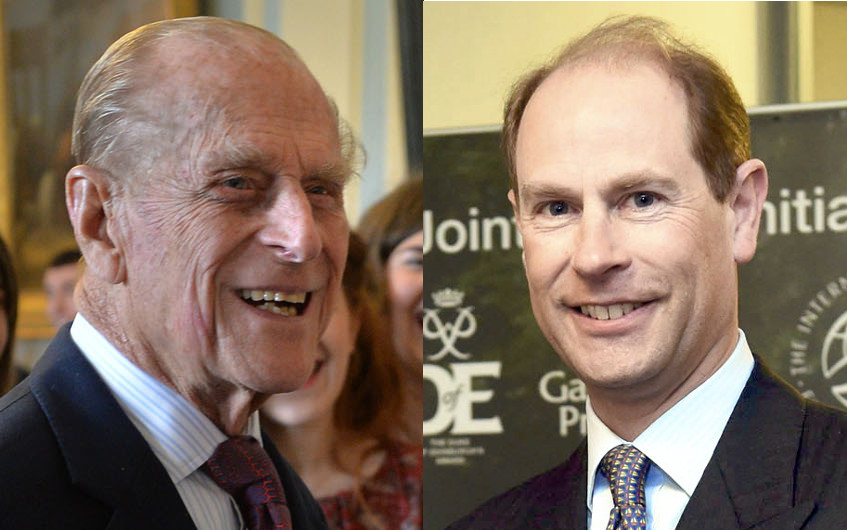 Prince Philip and Prince Edward