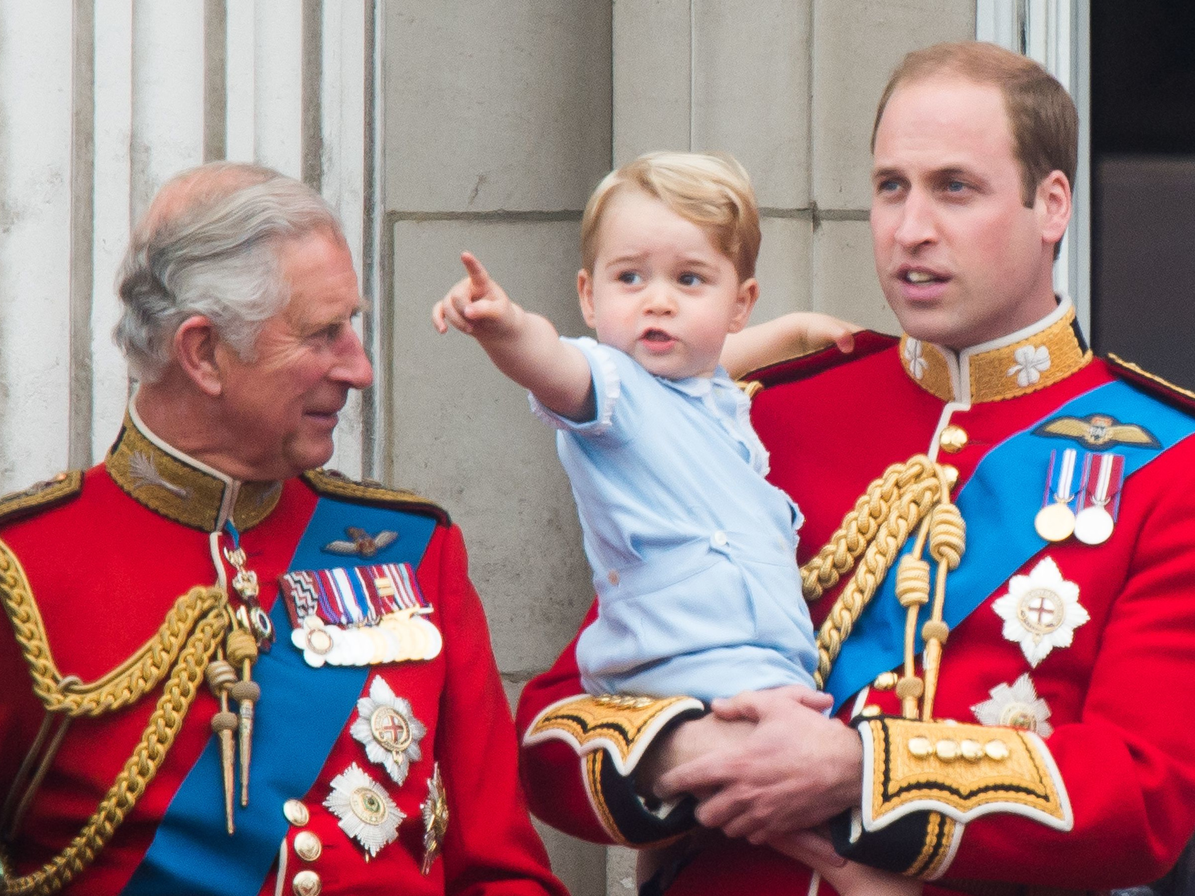 Princes Charles, George and William